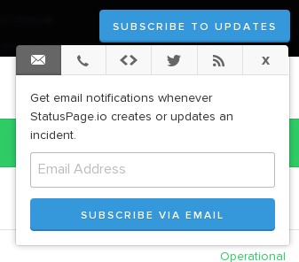 Status Subscription Options